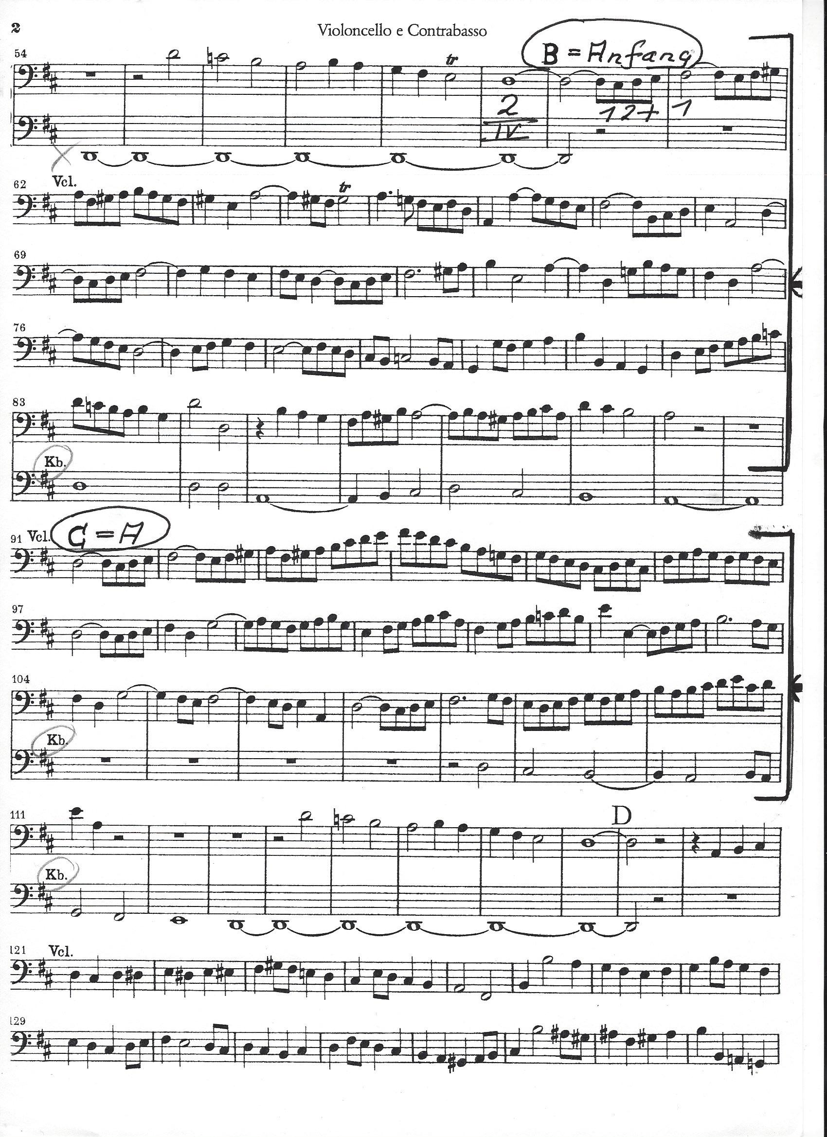Bach - Orchesterstellen Kantat 80 - Ouvertüre-1
