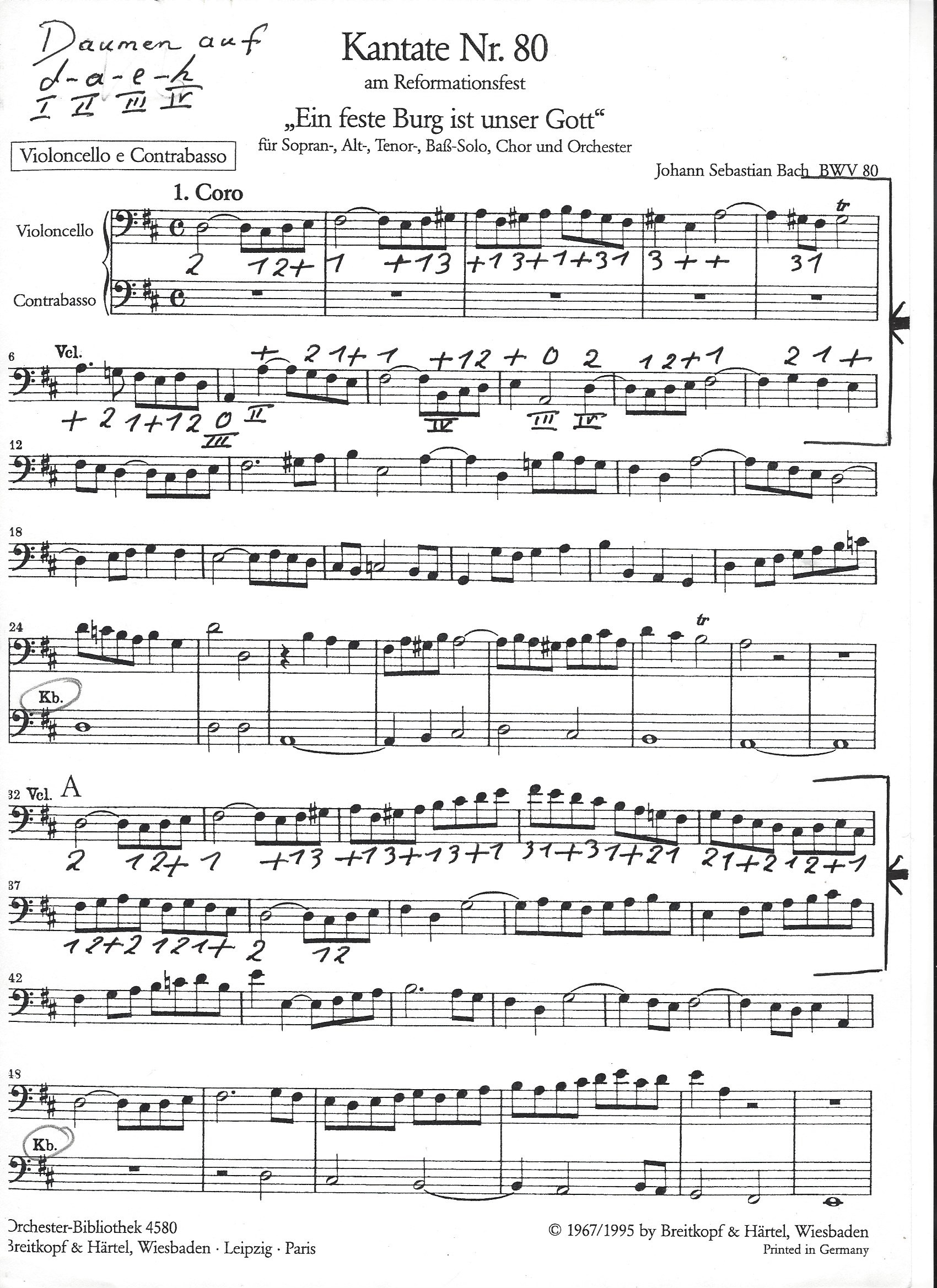 Bach - Orchesterstellen Kantat 80 - Ouvertüre