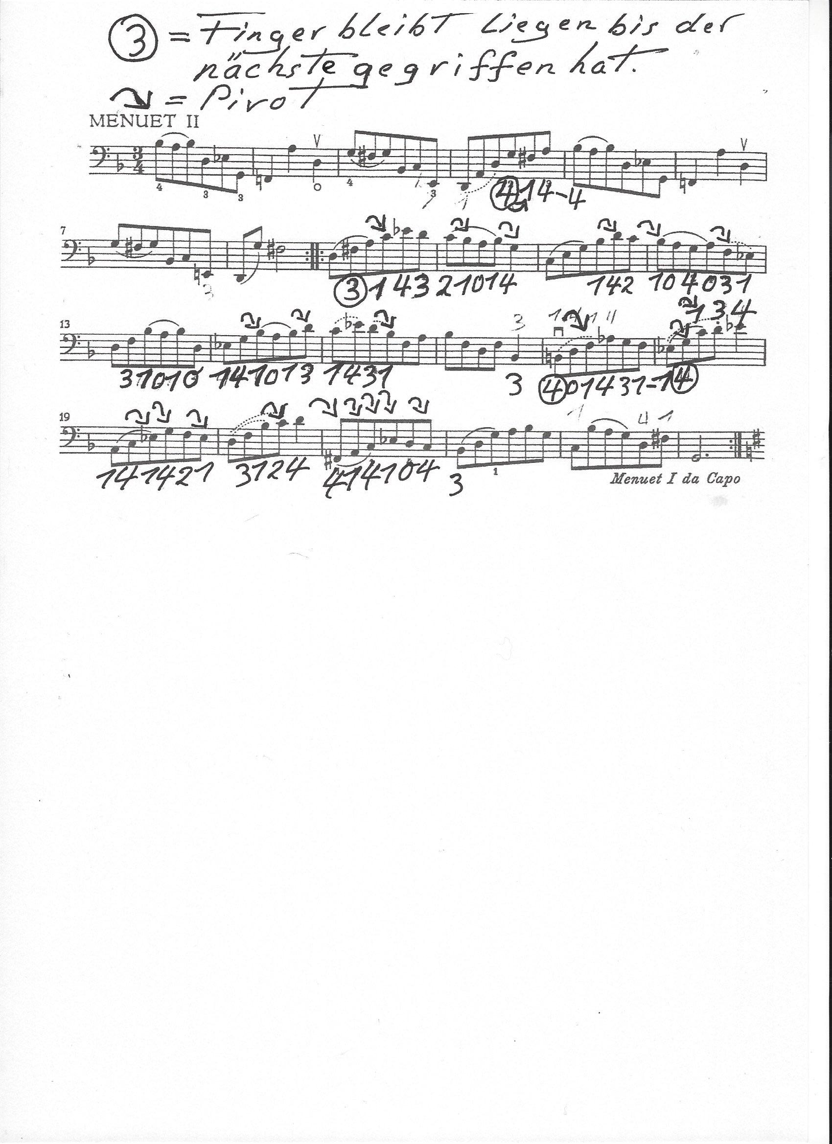 Bach - Menuett II